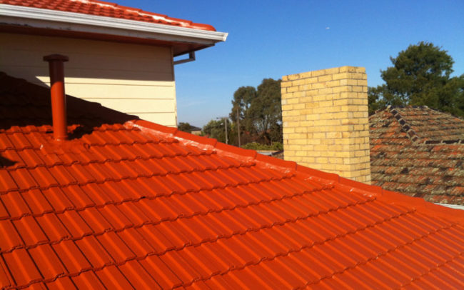 Roof Restoration including mortar replacement, professional clean and painting